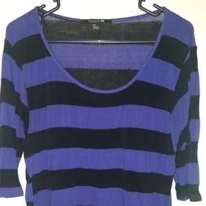 Forever 21   Purple & black striped sweater